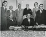 Winthrop Rockefeller with Orval Faubus and company at meeting